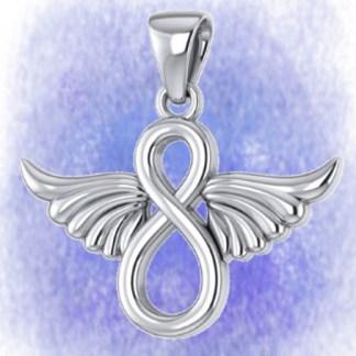 Anhänger Engelflügel Unendlichkeit aus 925-Silber