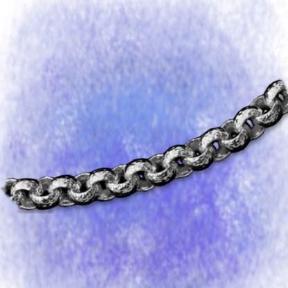 Kette Erbskette – ziseliert – 6,2mm aus 925-Silber