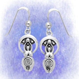 Ohrringe Göttin der Sterne aus 925-Silber