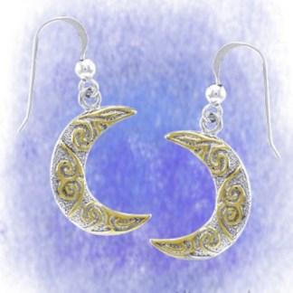 Ohrringe Monde aus 925-Silber vergoldet