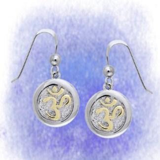 Ohrringe OM vergoldet aus 925-Silber vergoldet