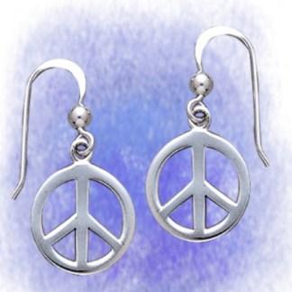 Ohrringe Peace aus 925-Silber