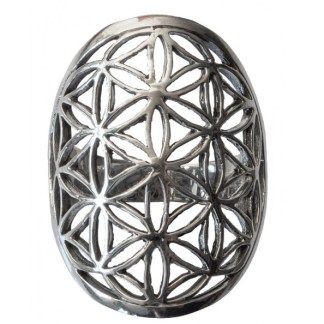 Ring Blume des Lebens aus 925 Silber