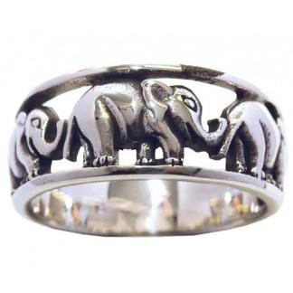 Ring Drei Elefanten 925 Silber