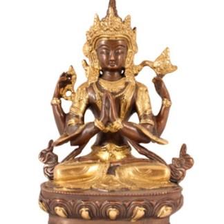Avalokiteshvara 21cm antik-gold