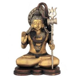 Shiva sitzend 24cm