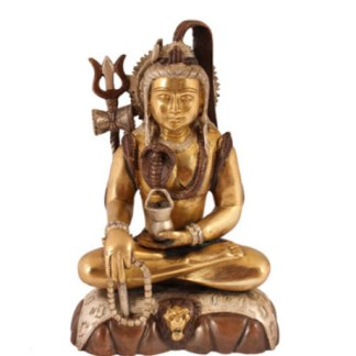 Shiva sitzend 25cm