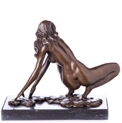 """Bronzefigur Lady aus Hocke aufstehend 19x23x12cm3 - Bronze Figur """"Lady - aus Hocke aufstehend"""" 19x23x12cm"""