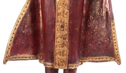 Buddha stehend aus Holz handgeschnitzt 119x40x20cm4 - Buddha stehend aus Holz handgeschnitzt 119x40x20cm
