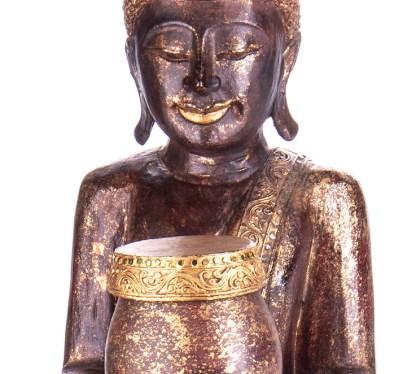 Buddha stehend aus Holz handgeschnitzt 120x40x20cm B 183 - Buddha stehend aus Holz handgeschnitzt 120x40x20cm B-18