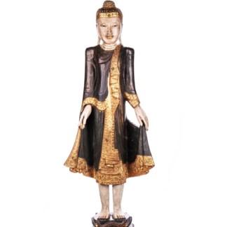 Buddha stehend aus Holz handgeschnitzt 120x40x20cm B-2