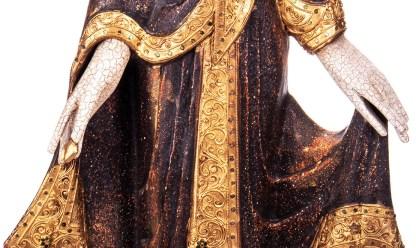 Buddha stehend aus Holz handgeschnitzt 120x40x20cm B 34 - Buddha stehend aus Holz handgeschnitzt 120x40x20cm B-3