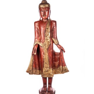 Buddha stehend aus Holz handgeschnitzt 120x40x20cm