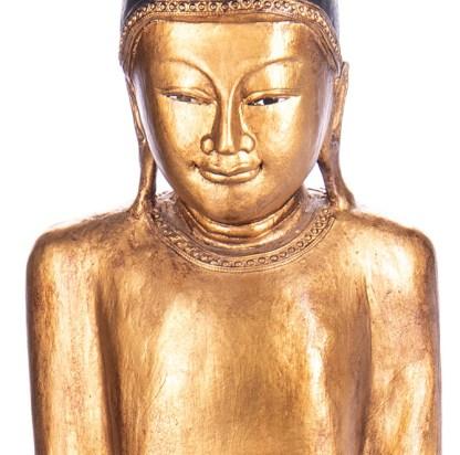 Buddha stehend aus Holz handgeschnitzt 120x40x21cm3 - Buddha stehend aus Holz handgeschnitzt 120x40x21cm