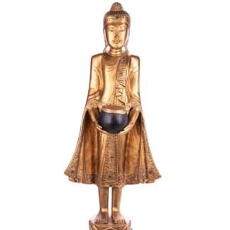 Buddha stehend aus Holz handgeschnitzt 120x41x20cm