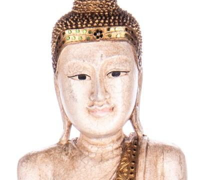 Buddha stehend aus Holz handgeschnitzt 121x40x20cm2