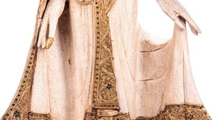 Buddha stehend aus Holz handgeschnitzt 121x40x20cm3 - Buddha stehend aus Holz handgeschnitzt 121x40x20cm
