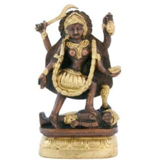 Kali stehend 15cm antik-gold