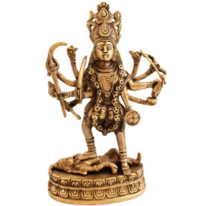 Kali stehend 23cm hell-antik