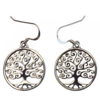 Ohranhänger Baum des Lebens Silber 925