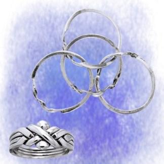 Ring Puzzel aus 925-Silber