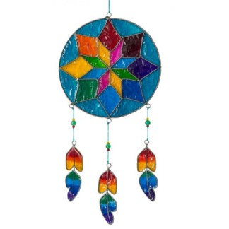 "Suncatcher Star Dreamcatcher 14x40cm - Traumfänger ""Multicoloured"" 22x60cm"