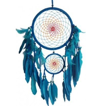 Traumfänger Multicoloured türkis