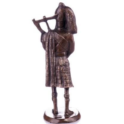 Bronze Figur Schotte mit Dudelsack 20cm2
