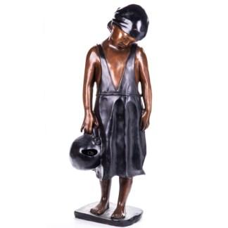 Bronze Figur Bronzebrunnen Mädchen mit Gießkanne 100cm