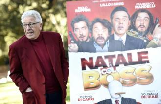 Italian actor/cast member Peppino Di Capri poses for photographs during the photo call for the movie 'Natale col Boss', in Rome, Italy, 15 December 2015. The movie will be released in Italian theaters on 16 December. ANSA/CLAUDIO ONORATI