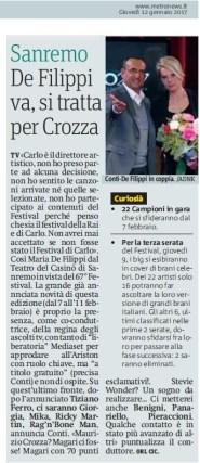 Metro Giovedì 12 07 2017 - Presentazione Sanremo 2017