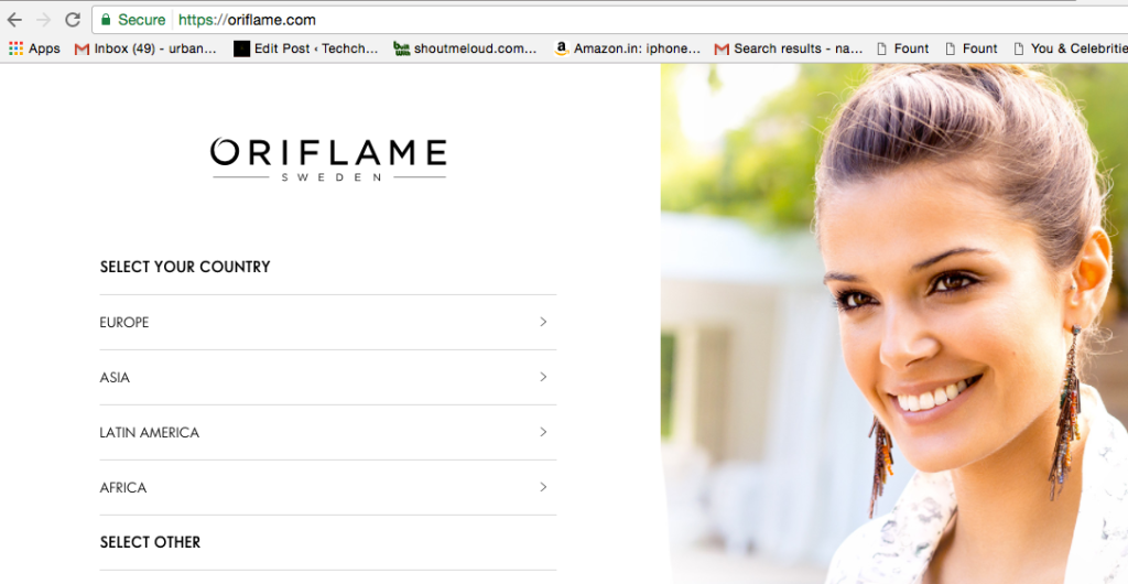 Oriflame Website | Oriflame Website Review