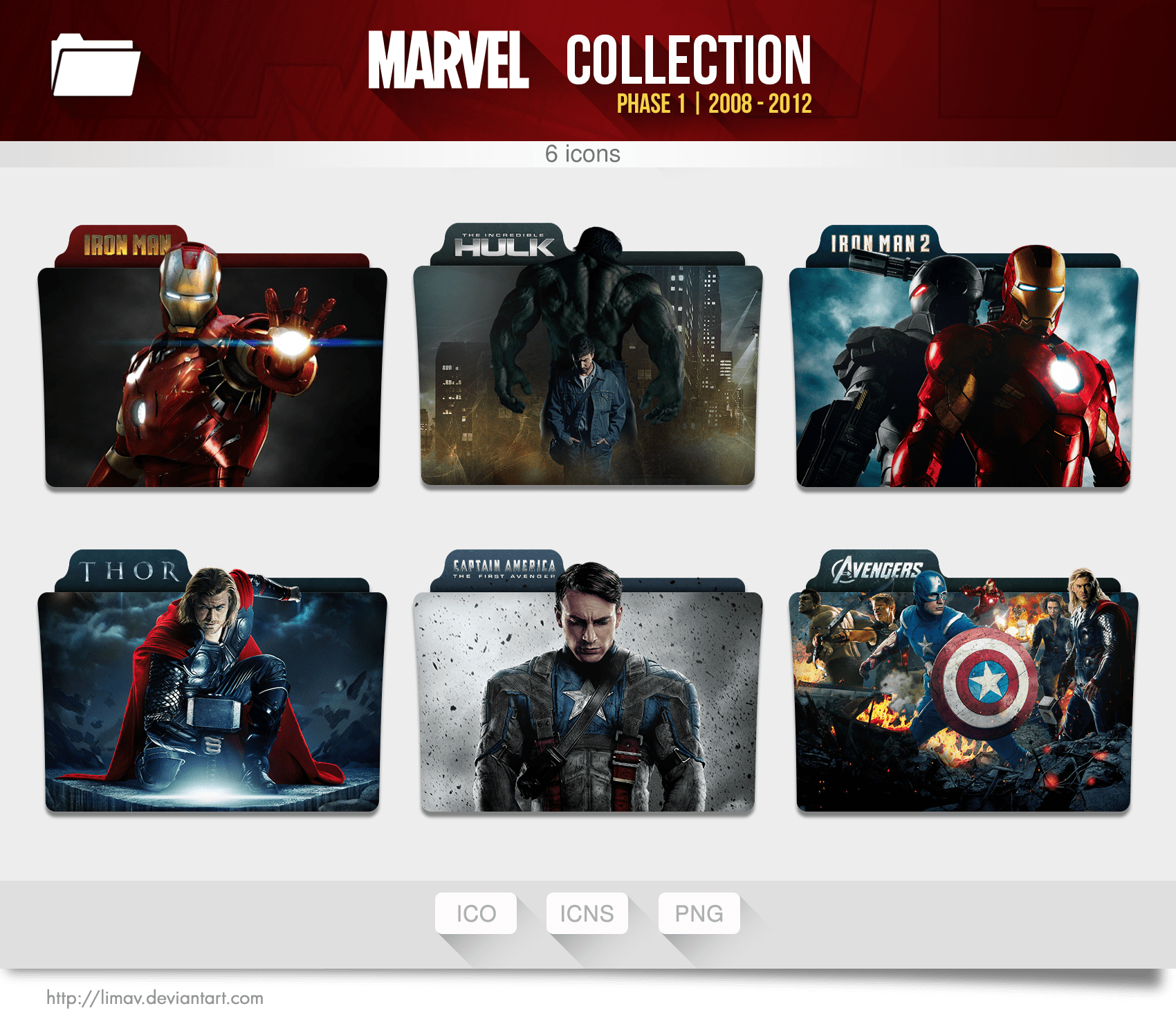 Marvel Collection Folders Phase 1 By Limav On DeviantArt