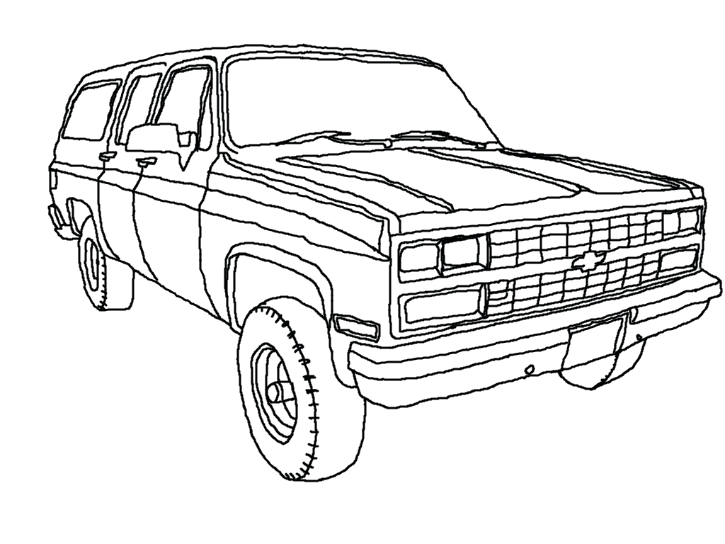 Chevy Suburban Lineart By Generalrusty78 On Deviantart