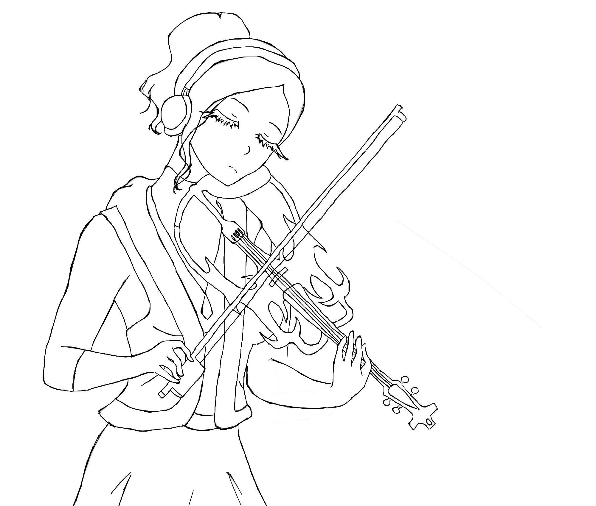 Violin Outline By On Deviantart