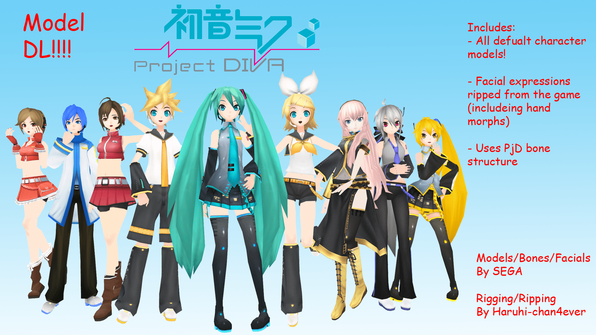 Project Vocaloid Characters Diva