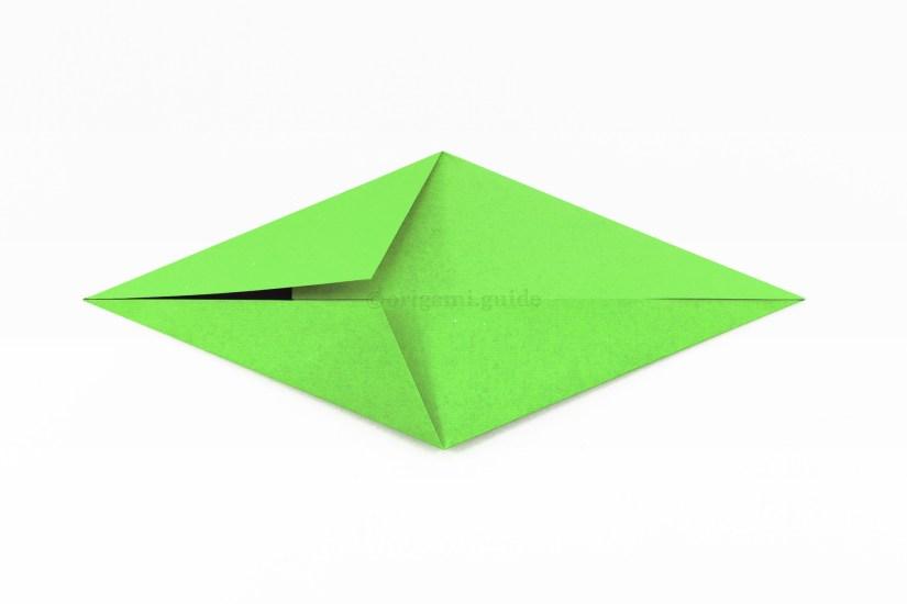 13. Repeat the same on the top diagonal edge.
