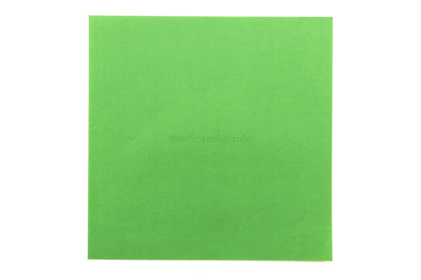 2. This is the back of the paper, usually white. This will be the colour of the lower section.