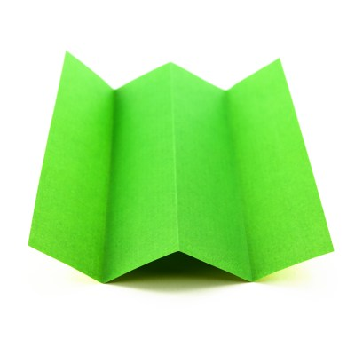 How to do an Origami Rabbit Ear Fold