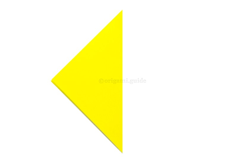 2. Fold the right point over to the left point.