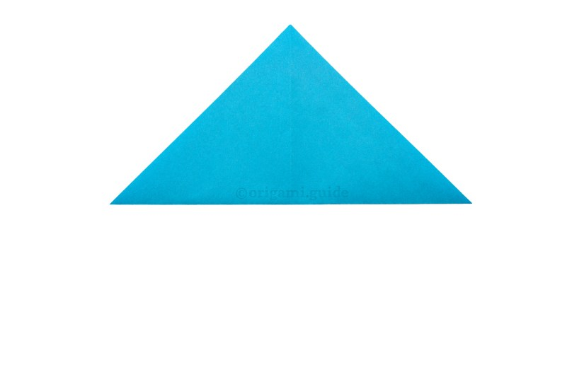 4. Fold the bottom point up to the top point.