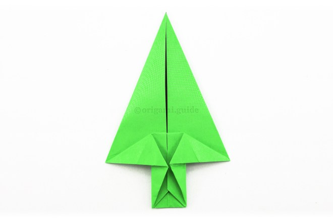 16. The origami arrow is complete.