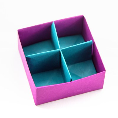How To Make An Easy Origami Packaging Box