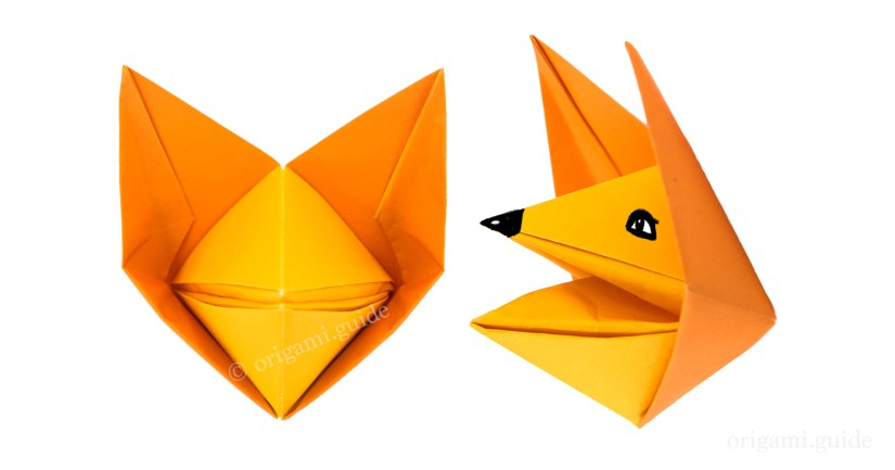 How To Make An Origami Fox Puppet Origami Guide
