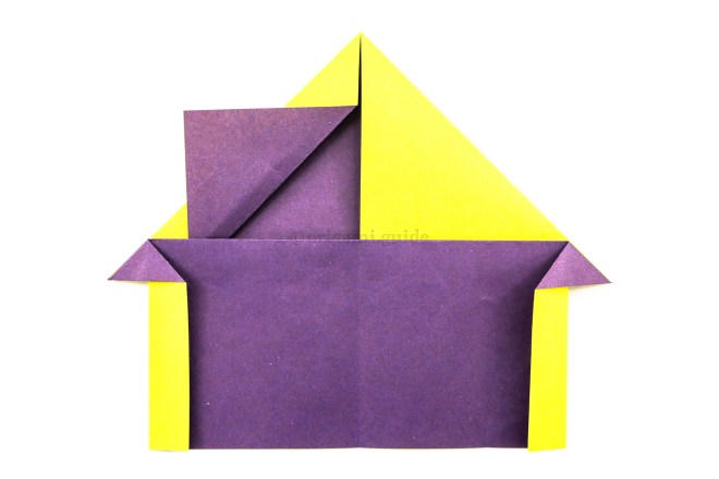 16. You can then fold the section back under the horizontal flap.