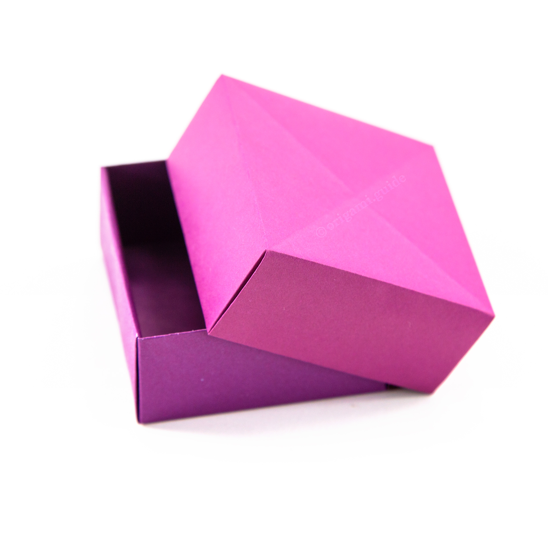 Origami octagonal Box With Lid instructions | Box + Lid | Origami ... | 1920x1920