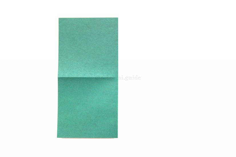 5. Fold the right edge over to the left edge.