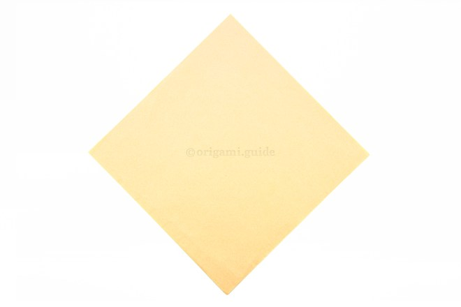 2. This is the back of the origami paper, the sails will be this colour.