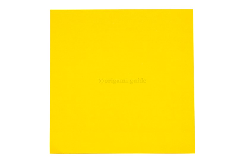 1. This is the front of the paper, the lower part of the origami star box will be this color.