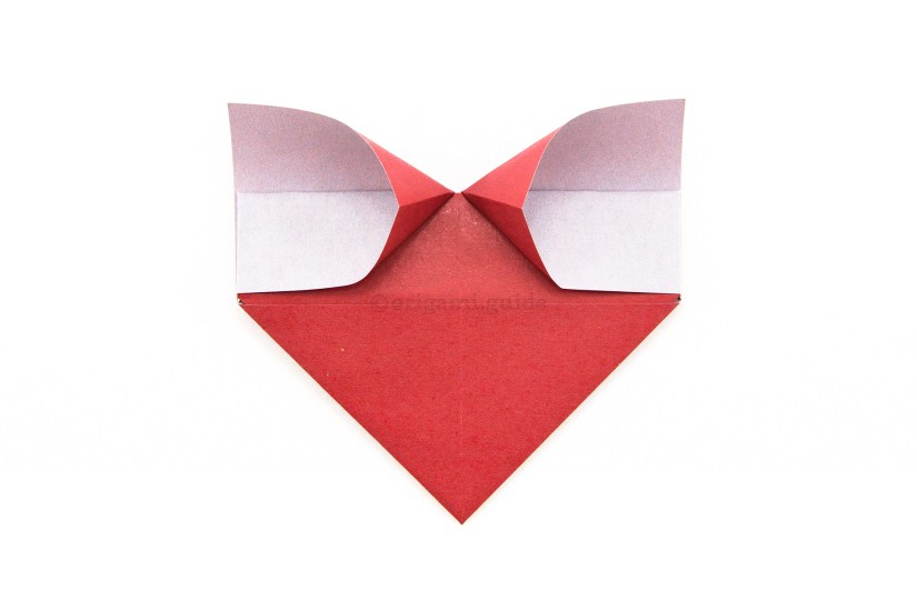 16. This is what your origami heart should look like now.